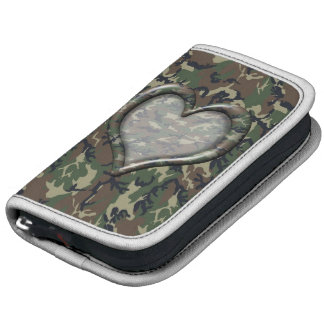 Camouflage Woodland Forest Heart on Camo Folio Planner
