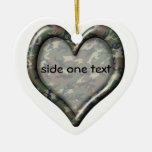 Camouflage Woodland Forest Heart Ornament