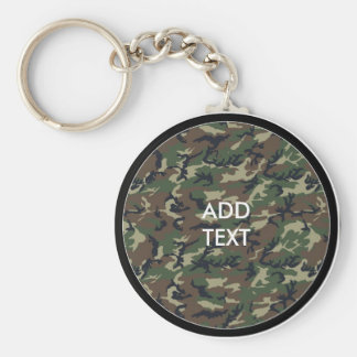 Camouflage Woodland Keychain