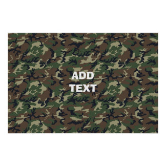 Camouflage Woodland Poster