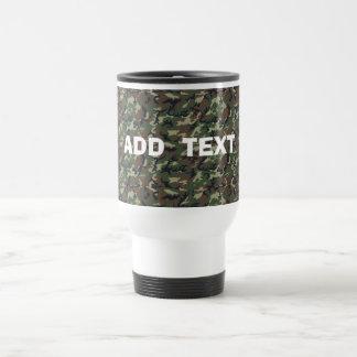 Camouflage Woodland Travel Mug