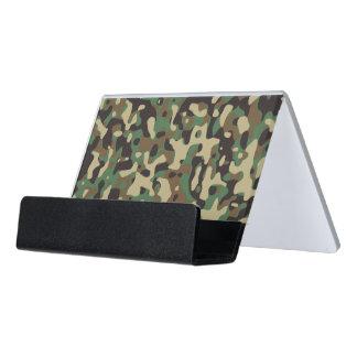 Camouflage Woodlands Desk Business Card Holder