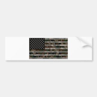 Camouflaged American Flag Bumper Sticker