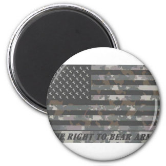 Camouflaged American Flag with deer heads Magnet