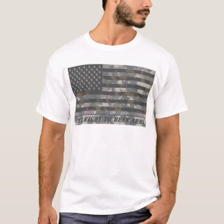 Camouflaged American Flag with deer heads T-Shirt