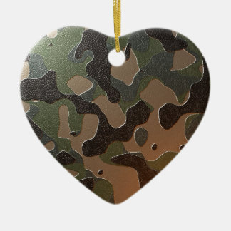 Camouflaged Ceramic Ornament