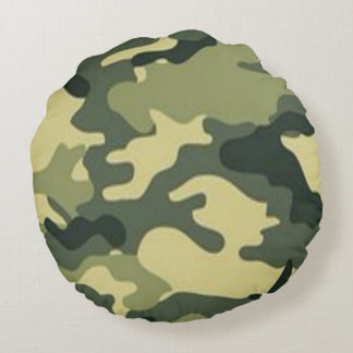 Camouflaged Dream Round Pillow