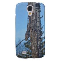 Camouflaged Great Grey Owl and Tree Wildlife Photo Samsung Galaxy S4 Case