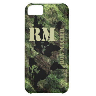 camouflaged military world map name iPhone 5C cases