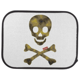 Camouflaged Patterned Skull Car Floor Mat