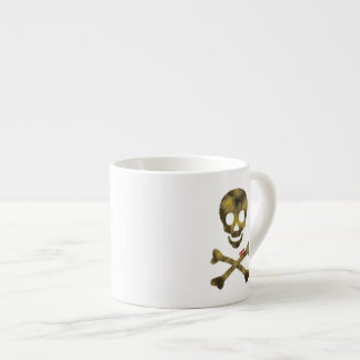 Camouflaged Patterned Skull Espresso Cup