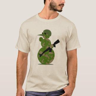 Camouflaged  Snowman Soldier Shirt
