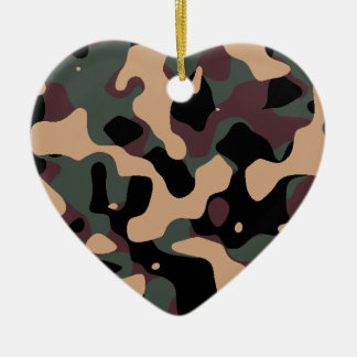 Camouflaged standard jungle ceramic ornament
