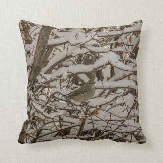 Camouflaged Thrush - Townsend's Solitaire Throw Pillow