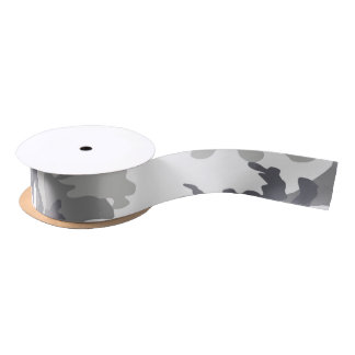 Camouflaged White and Grey military Blank Ribbon