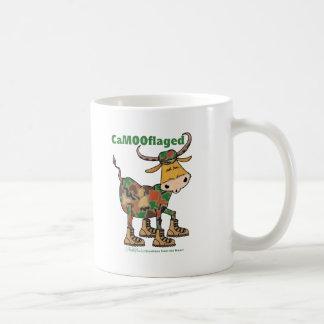 Camouflauge Bull Coffee Mugs