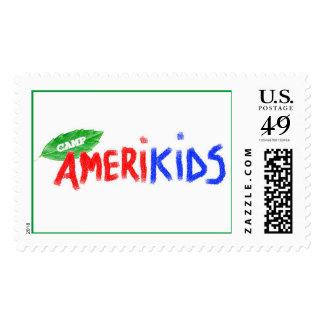 Camp AmeriKids Logo Postage