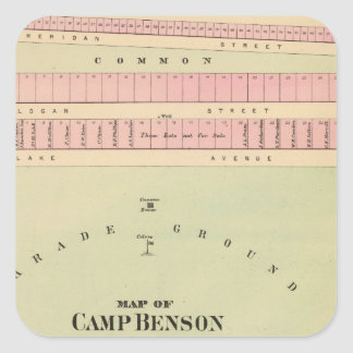 Camp Benson, Newport, Maine Square Sticker