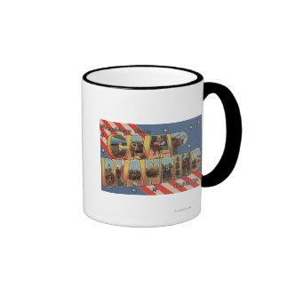 Camp Blanding, Florida - Large Letter Scenes Ringer Coffee Mug