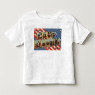 Camp Blanding, Florida - Large Letter Scenes T Shirt
