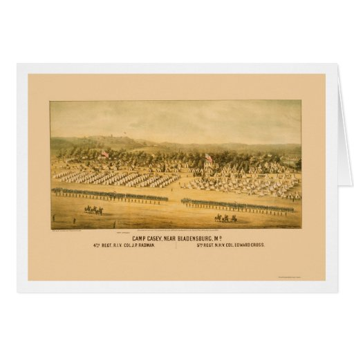 Camp Casey and Fort Lincoln near Bladensburg 1861 Greeting Card