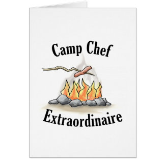 Camp Chef Extraordinaire Note Card