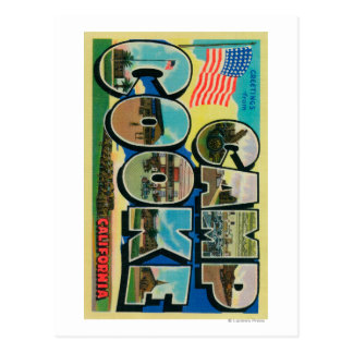 Camp Cooke, California - Large Letter Scenes Postcard
