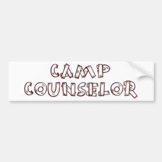 Camp Counselor Bumper Sticker