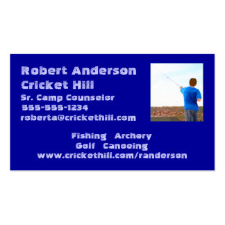 Camp Counselor Business Card