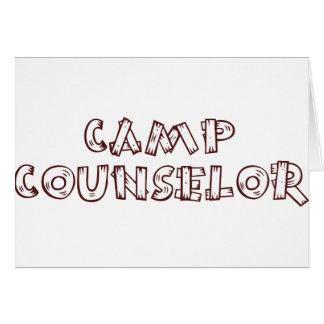 Camp Counselor Card