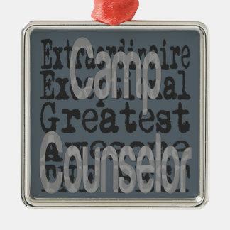 Camp Counselor Extraordinaire Metal Ornament