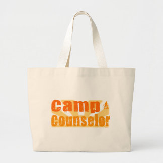 Camp Counselor Large Tote Bag