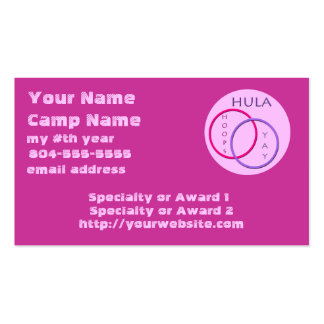 Camp Counselor or Camper Business Card