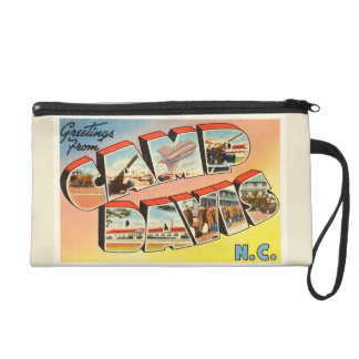 Camp Davis North Carolina NC Old Vintage Postcard- Wristlet