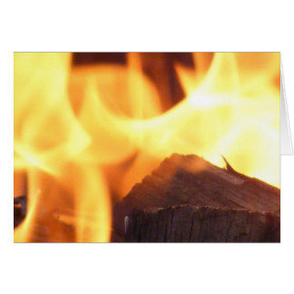 Camp Fire 2 - blank inside Stationery Note Card
