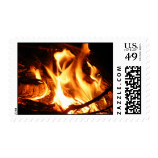 Camp Fire Postage Stamp