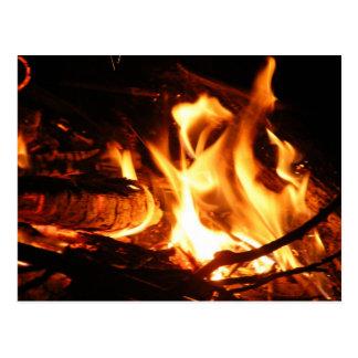 Camp Fire Postcard