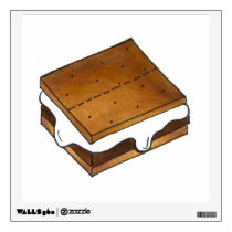Camp Fire Roasted Marshmallow Smore S'mores Wall Sticker
