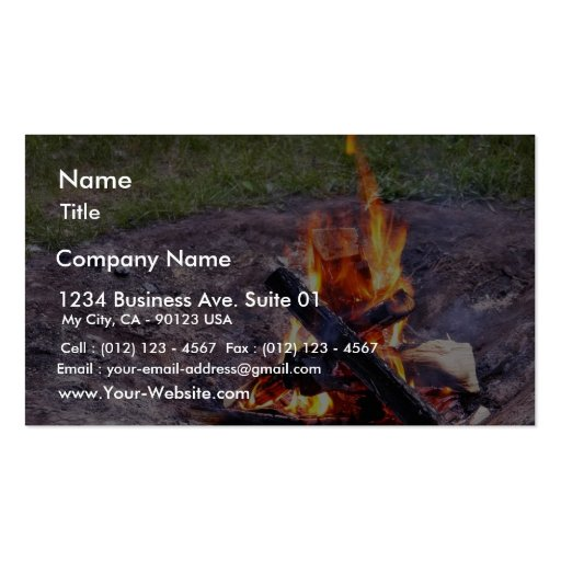 Camp Fires Business Card Template