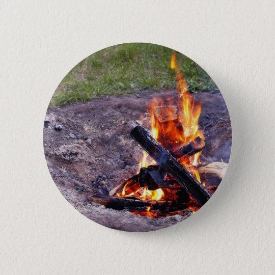 Camp Fires Pinback Button