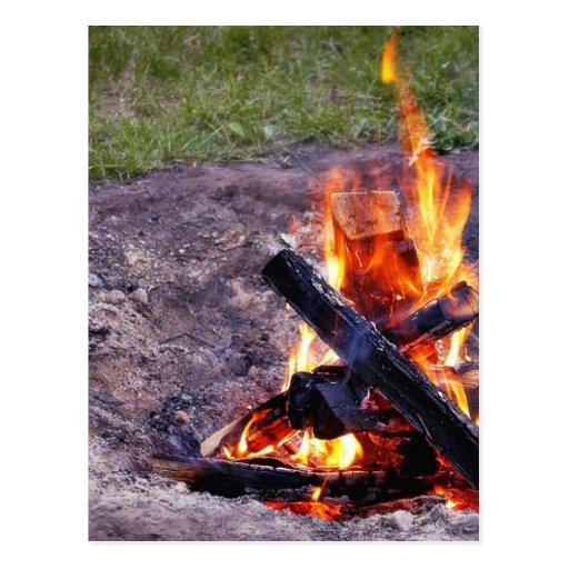 Camp Fires Postcards