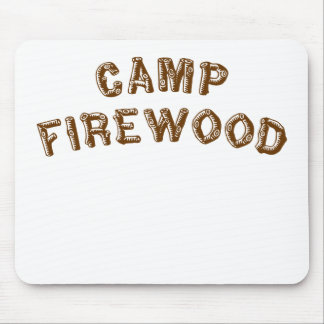 Camp Firewood Mouse Pad