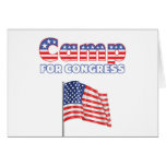 Camp for Congress Patriotic American Flag Greeting Cards