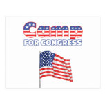 Camp for Congress Patriotic American Flag Postcards