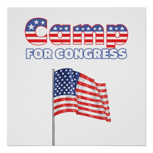 Camp for Congress Patriotic American Flag Posters