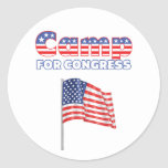Camp for Congress Patriotic American Flag Sticker