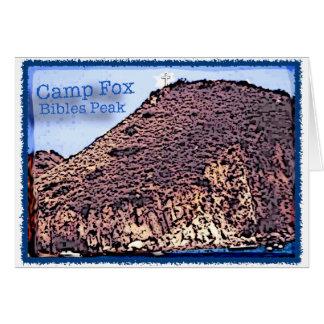 Camp Fox: Bibles Peak Altered Photo Greeting Card