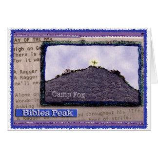 Camp Fox: Bibles Peak w/Raggers Song Lyrics Card