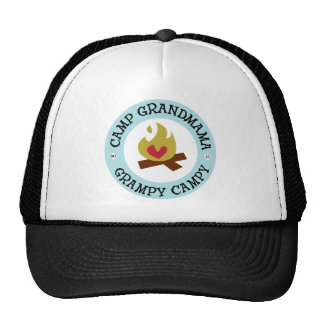 Camp Grandmama and Grampy Campy Trucker Hat