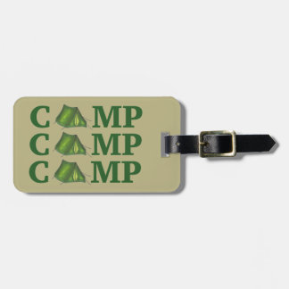CAMP Green Tent Summer Camping Hiking Bag Tag